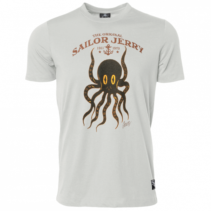 Sailor Jerry Official Octopus T-shirt Men's Silver