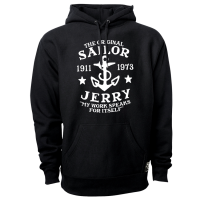 Official Sailor Jerry Clothing My Work Black Pull Over Hoodie