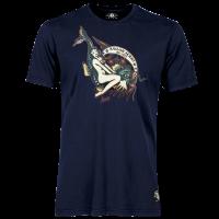 Sailor Jerry Official Off The Hook Pin Up Girl T-shirt Men's Navy