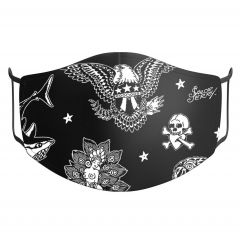 Sailor Jerry Official Flash Face Mask Black