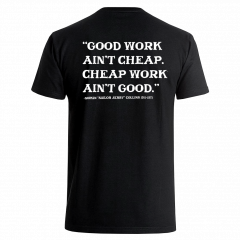 Sailor Jerry Official Good Work Ain't Cheap T-Shirt Men's Black