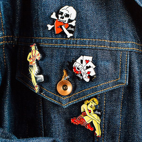 Official Sailor Jerry enamel pins