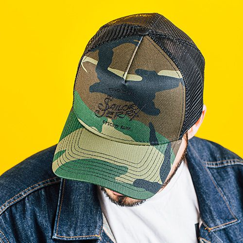 Official Sailor Jerry Camo Trucker Hat lifestyle
