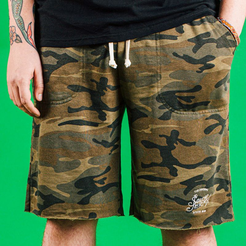 Sailor Jerry Official Camo Sweatpant Shorts