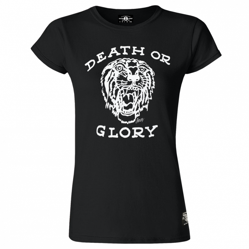 Sailor Jerry Official Death or Glory T-Shirt Women's Black
