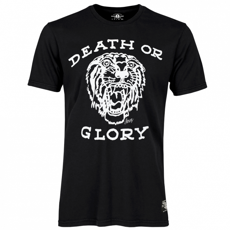 Sailor Jerry Official Death or Glory T-shirt Men's Black