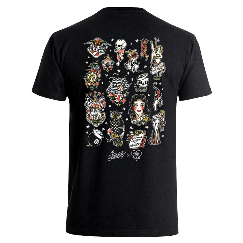 Sailor Jerry X Bad Monday Flash Sheet Tee Men's Black