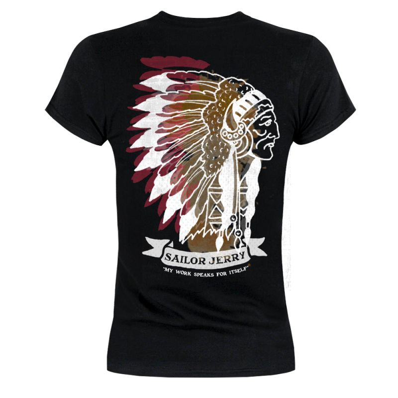 Sailor Jerry Official Indian Head T-shirt Women's Black