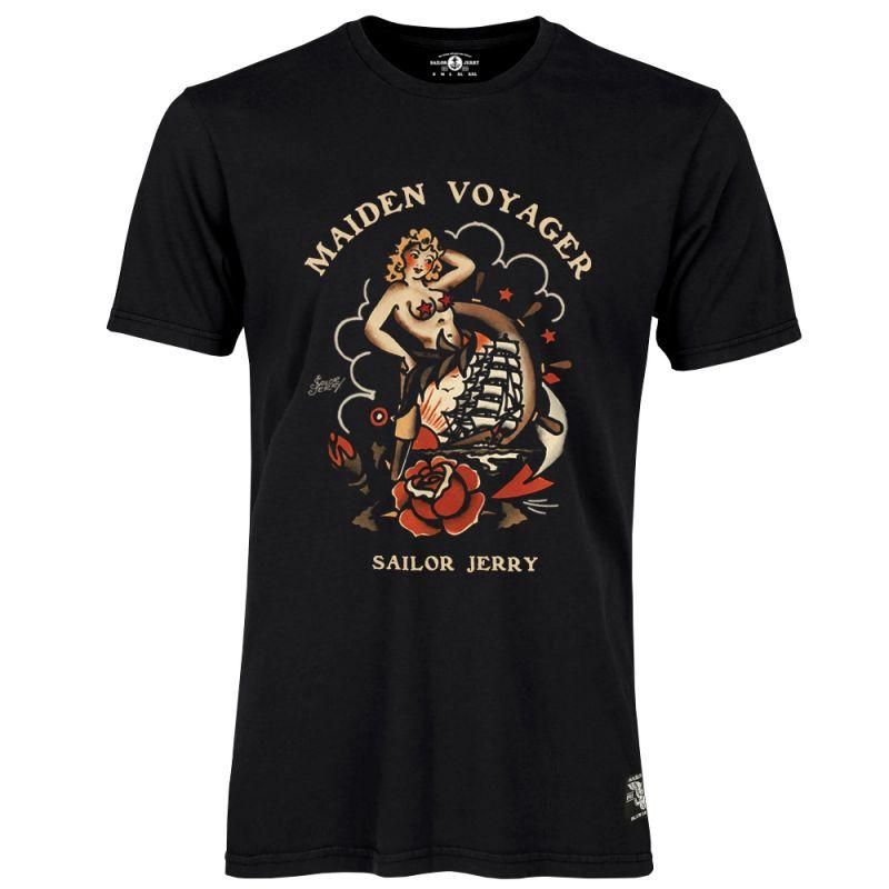 Sailor Jerry Official Maiden Voyager T-Shirt Men's Black