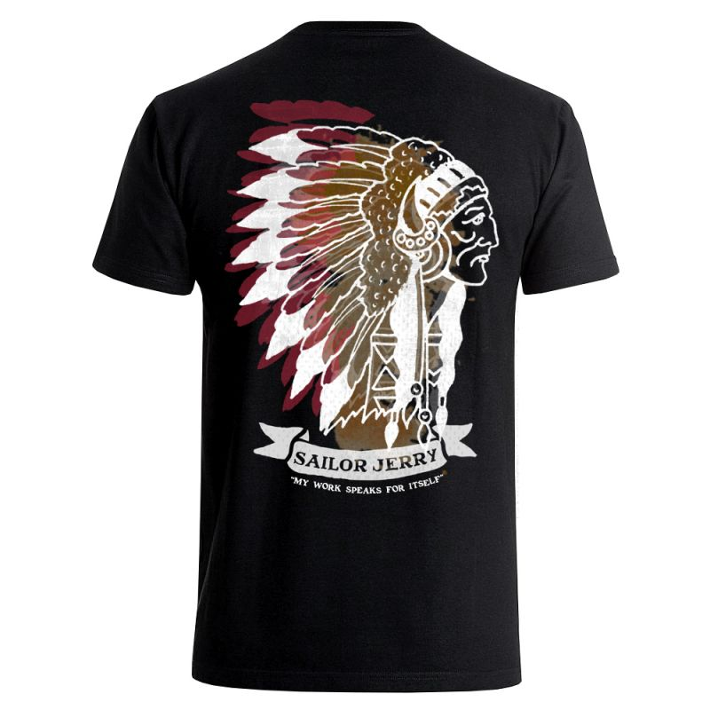 Sailor Jerry Official Indian Head T-shirt Men's Black