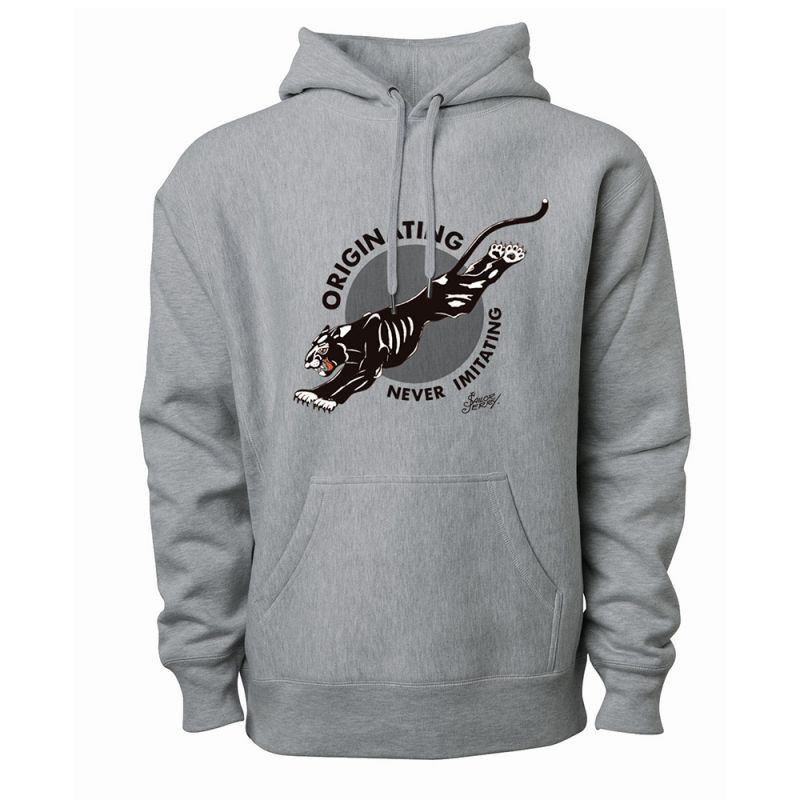 Sailor Jerry Official Originating Never Imitating Hoodie Men's Grey Heather