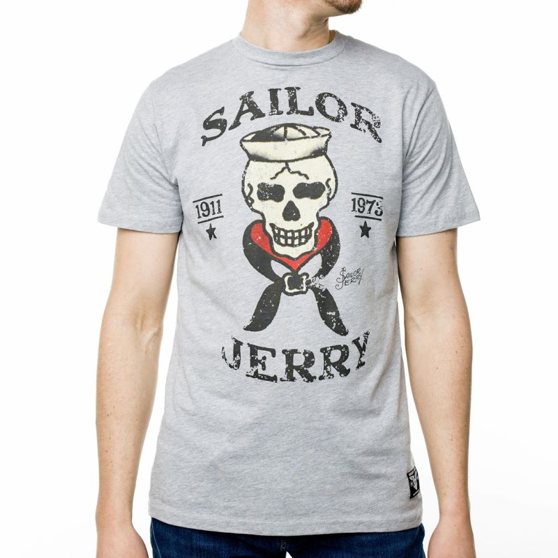 Sailor Jerry Official Skeleton Crew T-Shirt Men's Grey