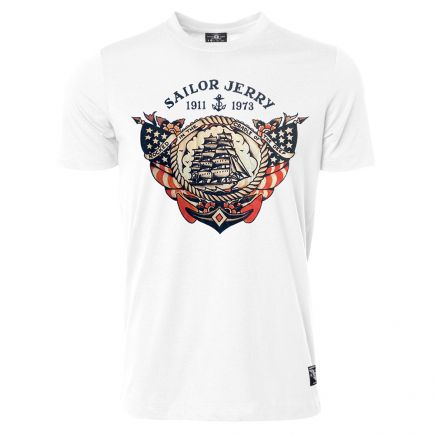 Sailor Jerry Official Cradle of the Deep T-shirt Men's White