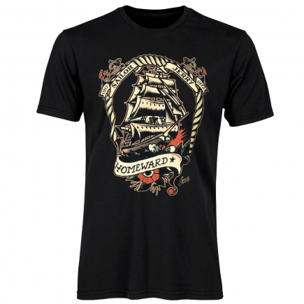 Sailor Jerry Official Voyage Home T-shirt Men's Black
