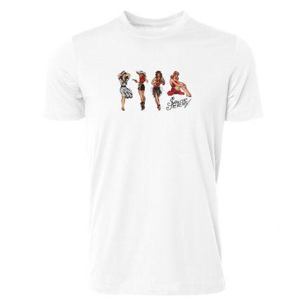 Sailor Jerry Official Jerry's Girls T-Shirt Men's White front