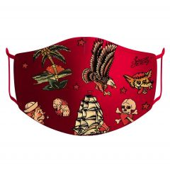 Sailor Jerry Official Flash Face Mask Red