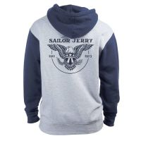 Sailor Jerry Official Eagle Hoodie Men's Grey Heather / Slate Blue