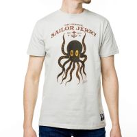 Sailor Jerry Official Octopus T-shirt Men's Silver
