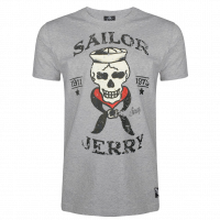 Sailor Jerry Official Skeleton Crew T-Shirt Men's Grey Heather